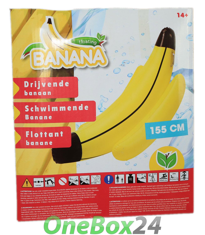 xxl gro e pool wasser luftmatratze schwimmende banane. Black Bedroom Furniture Sets. Home Design Ideas